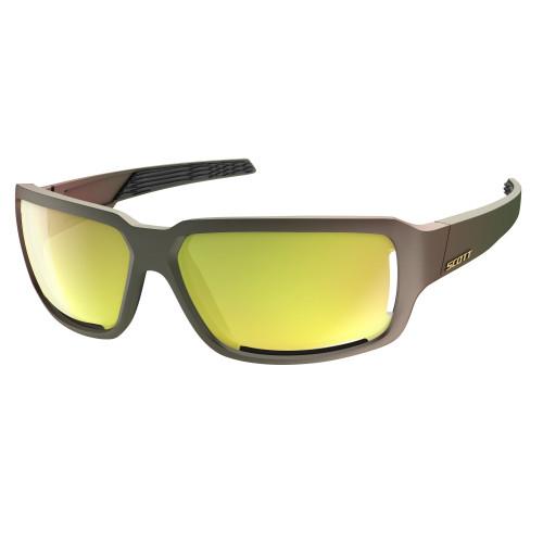 Ochelari Soare Alergare Unisex Scott Obsess ACS Komodo Green/Gold Chrome (Multicolor)
