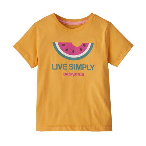 Tricou Copii Patagonia Baby Live Simply Organic T-Shirt Saffron