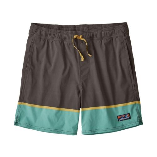 Pantaloni scurti Barbati Patagonia Stretch Wavefarer Volley Shorts - 16 in. Forge Grey