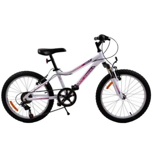 """Bicicleta Fete Omega Angle 20"""" Alb"""