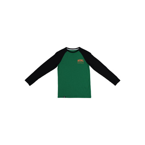Bluza First Layer Copii Mons Royale Groms Ls Pine / Black
