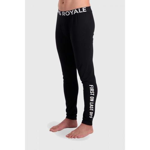Pantaloni First Layer Barbati Mons Royale Double Barrel Legging Black