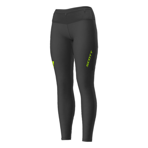 Pantaloni Femei Alergare Scott RC Run 2 Negru / Galben