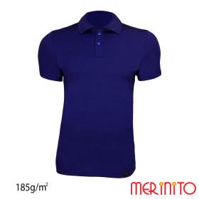 Tricou Barbati Merinito Polo Jersey 185G 100% Lana Merinos Bleumarin