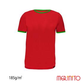 Tricou Copii Merinito 185G 100% Lana Merinos Rosu