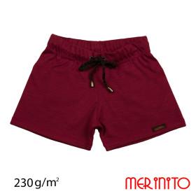 Pantaloni Scurti Copii Merinito Shorties 230G Lana Merinos Grena