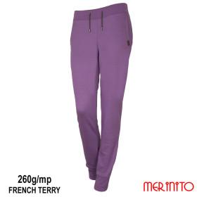 Pantaloni Femei Merinito Jogger French Terry 260G 100% Lana Merinos Mov