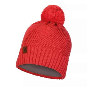 Caciula Casual Unisex Buff Knitted Polar Raisa Blossom Red